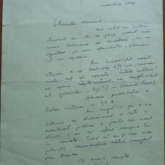 Scrisoare a lui Valentin Sivestru, 1964 - Autograf