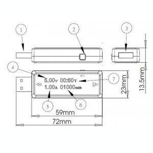 Tester incarcare USB - Charger doctor - Voltmetru Ampermetru Capacitate baterie