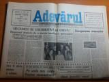 Ziarul adevarul 7 martie 1990-mecanicii de locomotiva in greva