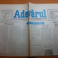 ziarul adevarul 4 octombrie 1990