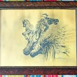 Grafica – Simbioza puterii – tus pe hartie – semnat Marcel Chirnoaga - Pictor roman, Scene gen, Cerneala, Altul