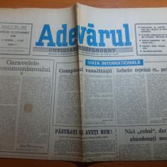 ziarul adevarul 10 octombrie 1990
