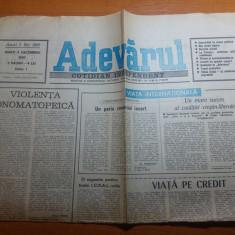 ziarul adevarul 4 decembrie 1990