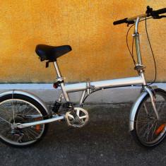 BICICLETA PLIABILA TELESCOP PE SPATE - Bicicleta pliabile, 14 inch, 20 inch, Numar viteze: 6