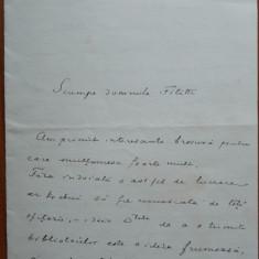Scrisoare a Gen.Constandachi catre I. C. Filitti, 1936 - Autograf