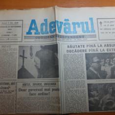 ziarul adevarul 23 septembrie 1990