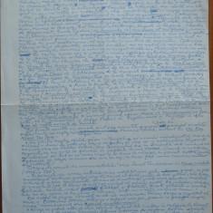 Manuscris al criticului si scriitorului Al. Piru, De-ale gurii din batrani - Autograf