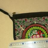 Portofel mare textil - interior simplu - design exotic - 2+1 gratis - RBK18067 - Portofel Dama, Culoare: Maro, Cu fermoar
