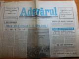 Ziarul adevarul 1 decembrie 1990-ziua nationala a romaniei ( cel mai lung an )