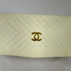 Plic dama alb Chanel+CADOU - Geanta Dama Chanel, Culoare: Din imagine, Marime: Medie, Geanta plic, Asemanator piele