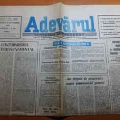 ziarul adevarul 21 octombrie 1990