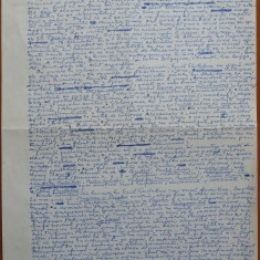 Manuscris al criticului si scriitorului Al. Piru, Studiul clasicilor - Autograf