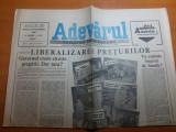 Ziarul adevarul 30 octombrie 1990-liberalizarea preturilor