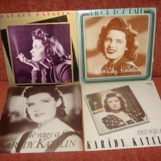 Lot 4 albume diverse Karady Katalin vinil vinyl - Muzica soundtrack Altele