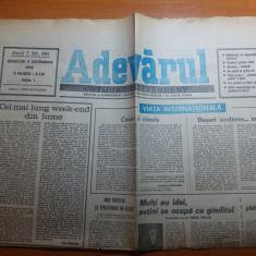 ziarul adevarul 5 decembrie 1990