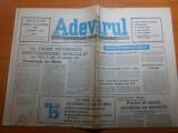 Ziarul adevarul 20 octombrie 1990