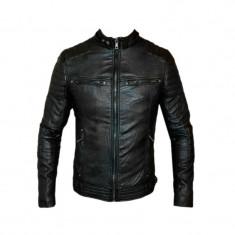 Geaca Zara Office Model Casual SlimFit Cod Produs 9119 - Geaca barbati, Marime: XL, Culoare: Negru, Piele