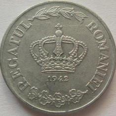 Moneda istorica 5 LEI - ROMANIA, anul 1942  *cod 340  - frumoasa zinc