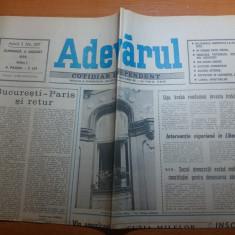 ziarul adevarul 5 august 1990