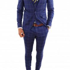 Costum tip ZARA - sacou + vesta + pantaloni costum barbati casual office - 6865, Marime: 44, Culoare: Din imagine