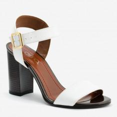 Sandale dama GIULIO. Model Piele Naturala Alba, Marime: 34, 35, 36, 37, 38, 40
