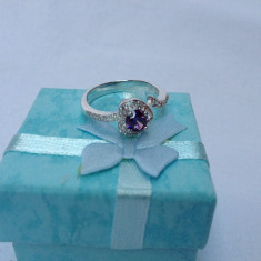 Inel dama Little Purple - Inel argint