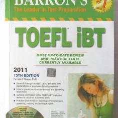 """BARRON'S TOEFL iBT"", Editia 11, Pamela J. Sharpe, 2011. Cu DVD - Curs Limba Engleza"