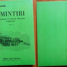 Arnautu, Amintiri ; Contrib. la Istoria Miscarii Legionare, Buenos Aires, 1974 - Carte Editie princeps