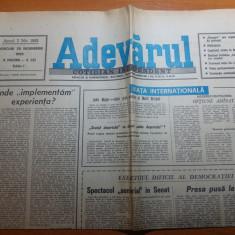 ziarul adevarul 28 noiembrie 1990