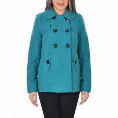 Palton dama Raspberry. Model Blanca Turquoise, Marime: 34