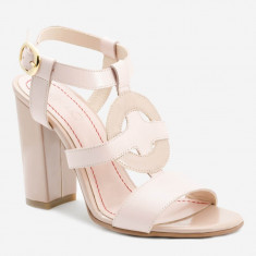 Sandale dama GIULIO. Model Piele Naturala Roz Nude, Marime: 36, 37, 38, 39, 40