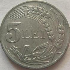 Moneda 5 Lei - ROMANIA, anul 1942 *cod 1755  Zinc xF+