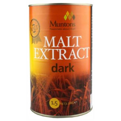 Muntons Extra Dark Plain Malt Extract 1.5 kg - pentru bere de casa foto
