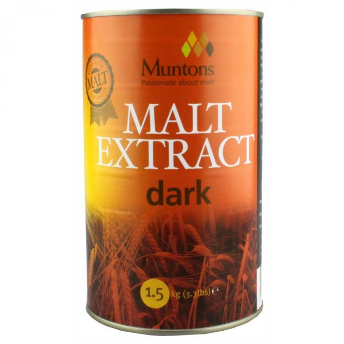 Muntons Extra Dark Plain Malt Extract 1.5 kg - pentru bere de casa