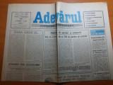 ziarul adevarul 6 noiembrie 1990-lucrarile lui brancusi la muzeul din craiova