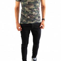Tricou tip Zara army - camuflaj - tricou barbati - tricou slim fit - 6872P3, Marime: XXL, Culoare: Din imagine, Maneca scurta