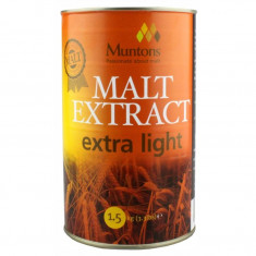 Muntons Extra Light Plain Malt Extract 1.5 kg - pentru bere de casa, Blonda
