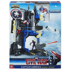 Jucarie Marvel Captain America Bunker Playset - Vehicul Hasbro