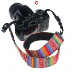 Neck Strap Camera Grip motive FOLK curea aparat foto DSLR CANON NIKON