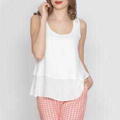 Bluza dama Raspberry. Model White Lace Back, Marime: 34, 38, 40