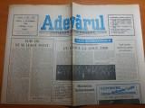 Ziarul adevarul 2 octombrie 1990-art. despe sapanta, jud. maramures