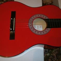 Chitara Rosi chitara clasica incepatori cu corzi de metal si pana culoare