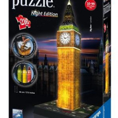 Puzzle 3D Ravensburger Big Ben With Lights 216 Pieces