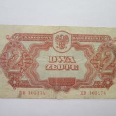 Polonia . 2 zloti (zlote) . 1944 - bancnota europa