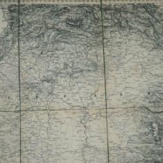 Harta Ungariei si Transilvaniei, Uibersichts Karte des Kriegsschauplates von Ungarn und Sibenburggen - Harta Romaniei