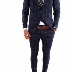 Costum tip ZARA - sacou + vesta + pantaloni costum barbati casual office - 6866, Marime: 50, Culoare: Din imagine
