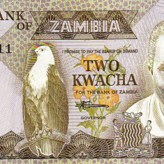 2 K Zambia - bancnota africa