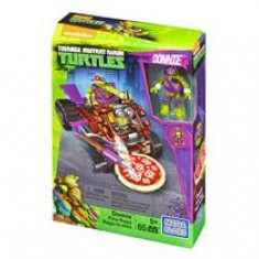 Jucarie Mega Bloks Teenage Mutant Ninja Turtles Donnie Pizza Buggy - Vehicul