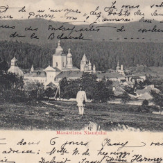 NEAMT, MANASTIREA NIAMTULUI, CLASICA, CIRC. 1906 - Carte Postala Moldova pana la 1904, Circulata, Printata