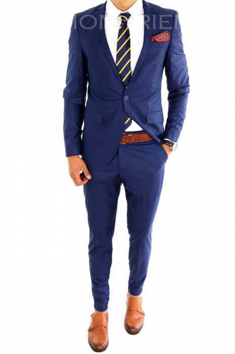 Costum tip ZARA - sacou + pantaloni costum barbati casual office  - 6863 foto mare